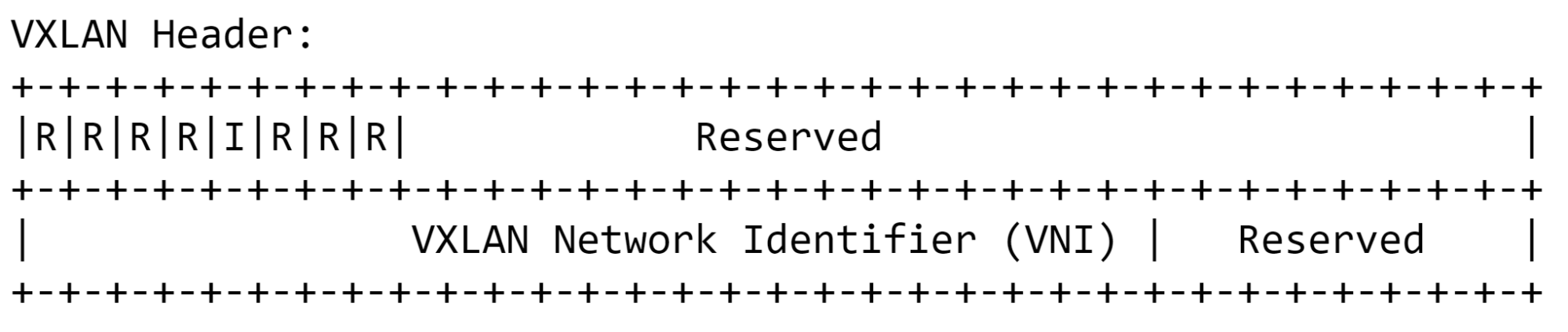 由IETF VXLAN规范定义的VXLAN标头
