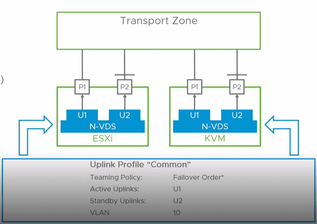 带有新虚拟交换机的VMware NSX-T N-VDS分组策略